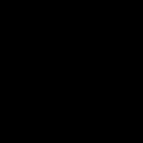 Inspace Black Rubber Kettlebell 8kg